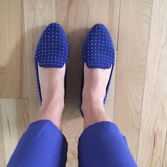 Gianni bini blue studded flats Dressy blue studded flats perfect for any occasion!   Worn 2-3 times but in really good condition! Gianni Bini Shoes Flats & Loafers