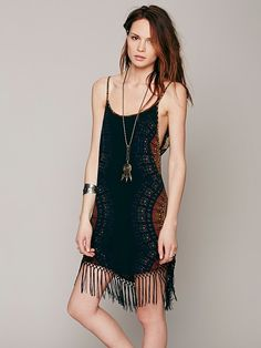 Free People Edie Radial Fringe Dress, $168.00