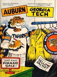 1964 Georgia Tech - Auburn Football Game Program