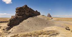 Shiprock. New Mexico. [2048x1062][OC]. wallpaper/ background for iPad mini/ air/ 2 / pro/ laptop @dquocbuu