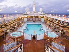 As luxurious as her Regent Seven Seas fleetmate _Seven Seas Mariner_ but two years younger, _Seven Seas Voyager_ cruises Eurasian coastlines from Scandinavia to China and Bali, as well as Australia and New Zealand.
