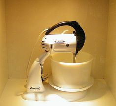 A305 Minor hand Mixer (1960s). The Kenwood Kitchen Theatre (www.kenwood.com/uk) at Goodwood Revival 2015 ©Come Step Back In Time.