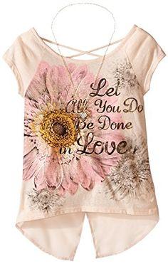 Beautees Big Girls' Dolmanwrapbacklovescrntop/Ncklce, Nat... http://a.co/2XMCivE