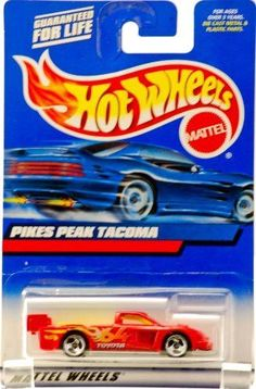 2000 - Mattel - Hot Wheels - Collector #148 - Pikes Peak Tacoma - Red / Yellow Interior - #64 Toyota Racing Graphics - 3 Spoke Wheels - New - Out of Production - Limited Edition - Collectible