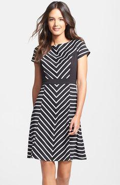 http://shop.nordstrom.com/s/ellen-tracy-stripe-ponte-fit-flare-dress-regular-petite/3909359?origin=category