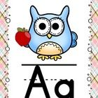If you have an owl themed classroom, then this alphabet can't get any cuter for you! Each owl is holding an object to represent each letter of the ...