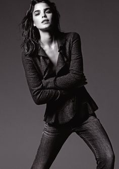 Bambi Northwood Blyth for Armani Jeans Fall Winter 2012/2013... In love w/ the jacket!!
