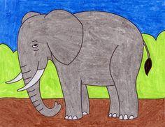 Giraffes Easy Giraffe Drawing, Elephant Drawing For Kids, Elephants For Kids, Giraffe Art, Elephant Art, Giraffe Head, Giraffes, Baby Elephant, Drawing Lessons For Kids