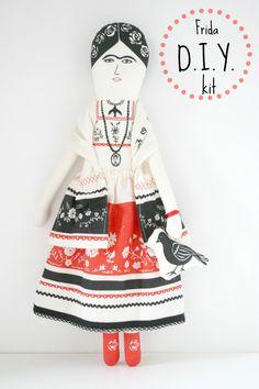 Frida Kahlo Doll DiY kit by mikodesign on Etsy