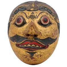 Balinese Dance Mask of a Prince Sculptures For Sale, Balinese, Art Furniture, Ubud, Sweet Life, Asian Art, Vintage Shops, Creepy, Mid Century