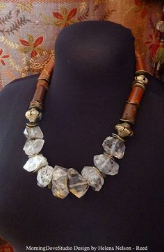 Tribal Inspired Double Terminated Crystal and by MorningDoveStudio, $275.00