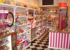 I often imagine myself owning a candy shop. An old fashion one tho. With the old fashioned penny candy etc. I love the look of all the fun colors also.