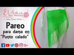 PAREO PARA DAMA EN PUNTOS CALADOS TEJIDOS A CROCHET/GANCHILLO PASO A PASO - YouTube
