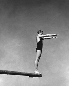 Photograph by Edward Steichen in the September 1932 Vanity Fair // Swimmer and diver Katherine Rawls