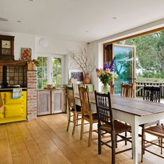 Garden-level kitchen extension | Kitchen extension | PHOTO GALLERY | Beautiful Kitchens | Housetohome.co.uk  Check out cupboard in window THIS IS A FAVOURITE KITCHEN