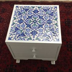 See related links to what you are looking for. Mosaic Tile Table, Tile Tables, Morris Homes, Ceramic Tile Art, Turkish Art, Classic Home Decor, Moroccan Decor, Glazes For Pottery, House Colors