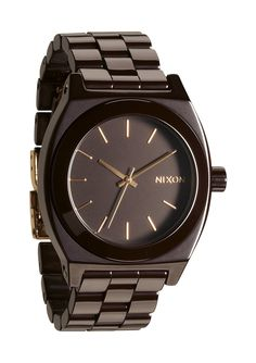 Nixon: The Ceramic Time Teller Watch in Cherry Chocolate | From Elena Hight's 2012 Nixon Holiday Gift Guide