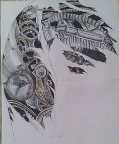 Image result for tattoo skizzen biomechanik