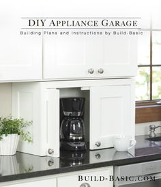 Ana White | Let's Build Something! Appliance garage, to hide machines not used regularly....what is a coffee pot doing in there?! lol