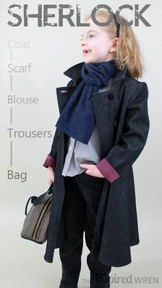 LOVE how it all came together! Mini female Sherlock cosplay sewn for Project Run & Play, Season 11 Week 2 | The Inspired Wren