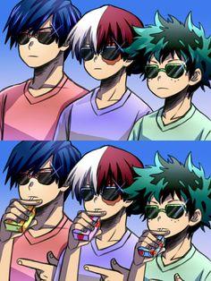 Boku no Hero Academia || Todoroki Shouto, Midoriya Izuku, Tenya Lida, #mha