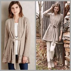 ❤️Anthropologie Sweatercoat❤️ Super cute, brand new without tags but does have a black line through the tag. I will only consider reasonable offers through the offer button. NO TRADES!  Boiled wool Embroidered detail Tie waist Dry clean Anthropologie Sweaters