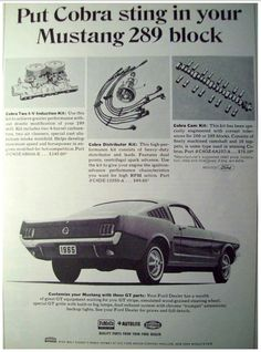 60's Ford Mustang performance parts