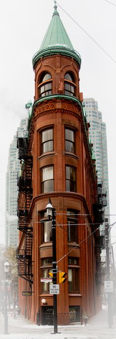 The Flatiron Building in Toronto, Canada • photo: Amgad G. Soliman on 500px