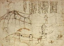 1490. Leonardo da VInci analyzed bird flight and anticipating many principles of aerodynamics. He designed this ornithopter
