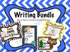 WRITING BUNDLE Informational, Personal Narrative, Memoir, & How-To from Free to Teach on TeachersNotebook.com (47 pages)