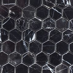 """For bathroom floor border: $11.45SF Nero Marquina (Black Marble) 1x1"""" Hexagon Polished Mosaic. can cut apart into a single or double row to use as a border?"""