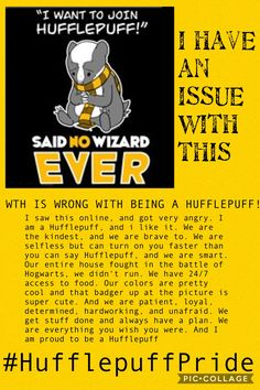 I saw that adorable Badger online, when i looked up Hufflepuff house. And i got angry, read it to find out why. (Uploaded by hufflepuff.of.sea.god)