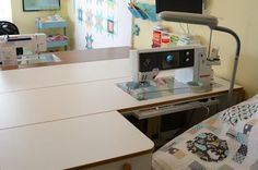 Sewing table with quilt support extension :-)