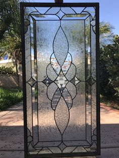 """Items similar to Pretty! The Traditional """"Vallejo"""" Leaded Stained Glass Window Panel (We do custom work! Please email me for a quick quote) on Etsy Stained Glass Door, Leaded Glass Windows, Stained Glass Designs, Stained Glass Projects, Stained Glass Patterns, Victorian Stained Glass Panels, Window Glass Design, Glass Wall Art, Window Panels"""