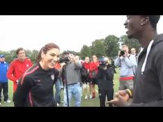 SKC Rookie (and later, MLS Rookie of the Year) CJ Sapong raps to Hope Solo when she played at Livestrong Sporting Park, in one of 2011's strangest MLS/soccer-related moments :D