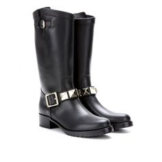 mytheresa.com - Lock leather biker boots - Luxury Fashion for Women / Designer clothing, shoes, bags