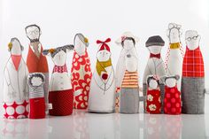 Family Thirteen characters  grandparents parentens by TIMOHANDMADE, $390.00