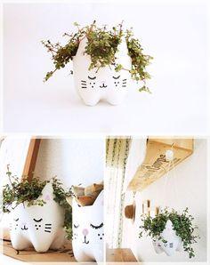Cute planters tutorials - See inside tutorials !
