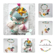 Mermaid Baby Mobile by mukibaba on Etsy