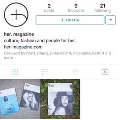 Please follow the new her. magazine official Instagram account for @hermagazineofficial #hermagazine via @thenewordermagazine Instagram