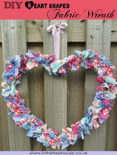 Fabric scrap wreath for a DIY 4th of July wedding