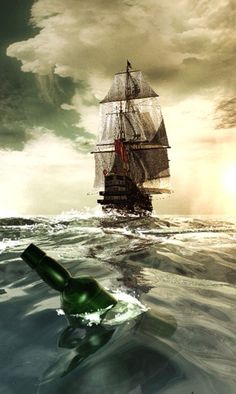 "Message in a Bottle"" cast upon the water...."