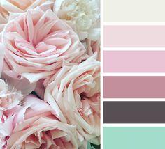 Farbe Puderrosa mit anderen Nuancen Kombinieren - beispielhafte Farbpalette