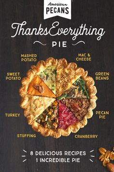We went where no pie has gone before—putting an entire holiday meal in one pecan pie tin. Ready to get … Thanksgiving Recipes, Fall Recipes, Holiday Recipes, Christmas Recipes, Christmas Cooking, Holiday Treats, Pie And Mash, New Year's Food, Appetizers For Party