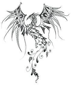 tattoo sketch for a phoenix rising | Phoenix Matured by imtara