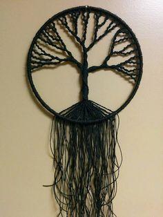 Items similar to Tree of Life Hemp Macrame Wall Art on Etsy Macrame Wall Hanging Patterns, Yarn Wall Hanging, Macrame Art, Macrame Projects, Macrame Knots, Art Mural, Wall Art, Small Palm Trees, Rustic Wedding Backdrops
