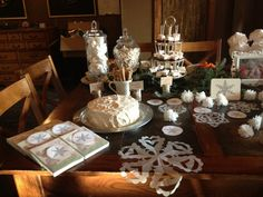 White, rustic, snowflakes and silver.