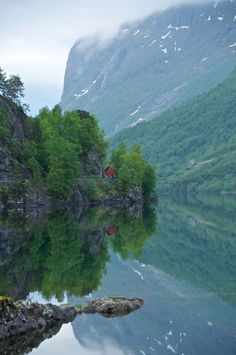 I think I need to visit Norway.  Lake Loenvatnet in Nordfjord, Sogn og Fjordane, Norway.