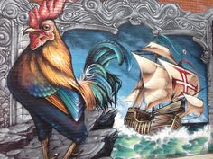 Mural on the side of my favorite Portuguese chicken restaurant #Montreal