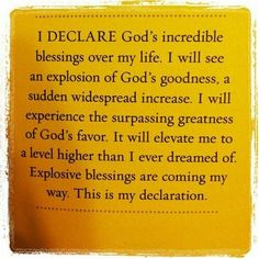 178 Best Decrees, Declarations and Blessings images in 2019